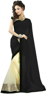 JK Creation Solid Fashion Georgette Sari
