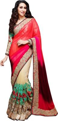 Greenvilla Designs Plain Fashion Pure Georgette Sari