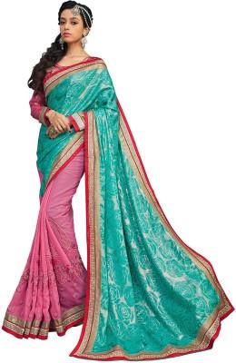 Hi-Choice Self Design Fashion Georgette Sari