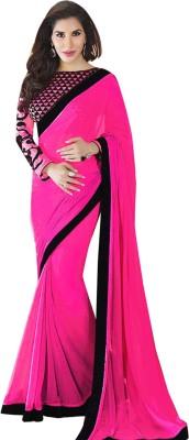 TriveniCreation Solid Bollywood Georgette Sari