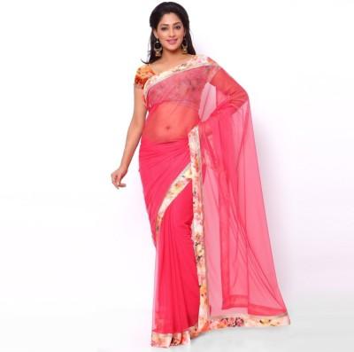 Ziyaa Floral Print Daily Wear Net Sari
