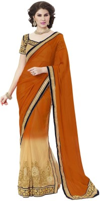 Indian Women By Bahubali Self Design Fashion Chiffon Sari