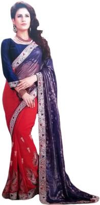 Aashi Embellished, Embriodered Fashion Georgette Sari