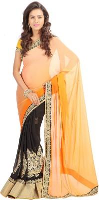 Stylo Designer Self Design Fashion Handloom Georgette Sari