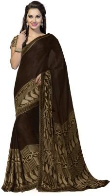Ishin Printed Fashion Synthetic Georgette Sari