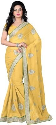 Mansi Exports Embriodered Daily Wear Georgette Sari