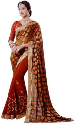 Awadh Embriodered Katha Georgette Sari