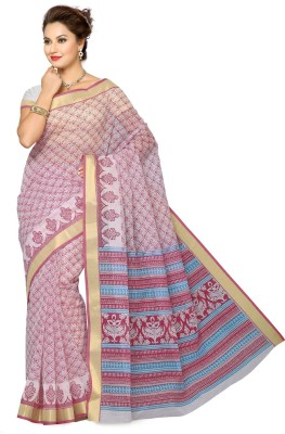 Saree Swarg Printed Gadwal Cotton Sari