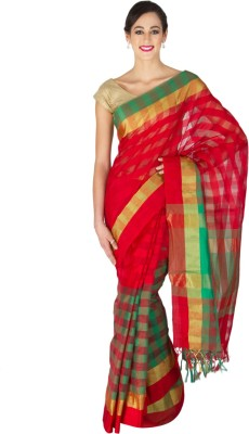 Craftghar Plain Banarasi Cotton Sari