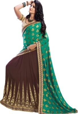 Maker Outsource Embriodered Fashion Georgette, Art Silk Sari