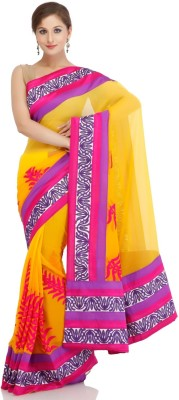 Chhabra 555 Self Design Fashion Chiffon Sari
