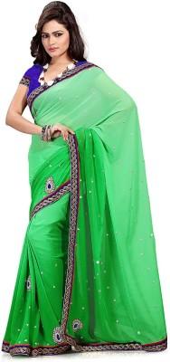 Dealtz Fashion Embriodered Fashion Chiffon Sari
