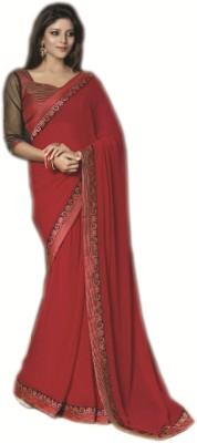 Fashion Spot Embriodered Fashion Georgette Sari