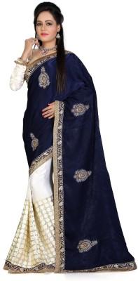 Trendyavenue Embriodered Fashion Velvet Sari