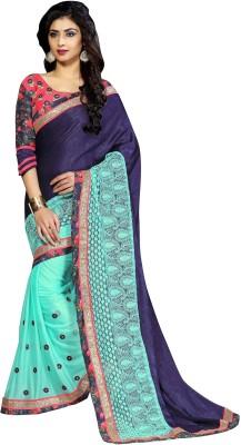 Aarushi Fashion Embriodered Chanderi Velvet Sari