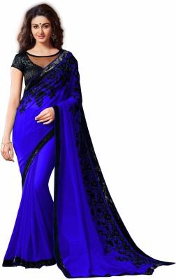 Giriraj Fashion Embriodered Bollywood Chiffon Sari