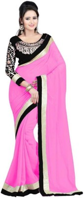 Kanha Fashionna Plain Fashion Georgette Sari
