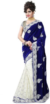 Fancy Sarees Embriodered Bollywood Handloom Velvet Sari