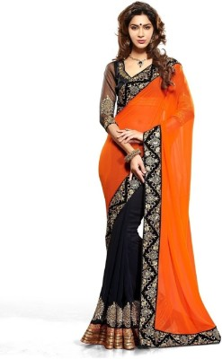 Lordshiv Embriodered Chanderi Lace Sari