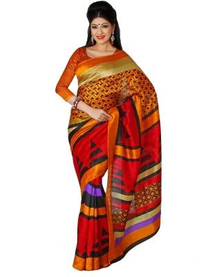 365 Labels Geometric Print Bhagalpuri Art Silk Sari