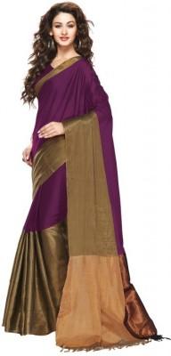 Mukesh Embriodered Fashion Handloom Cotton, Silk Cotton Blend Sari