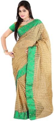Temptingg Fashions Checkered Banarasi Banarasi Silk Sari