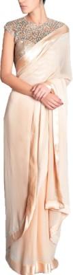 Rozdeal Plain Fashion Silk, Georgette Sari