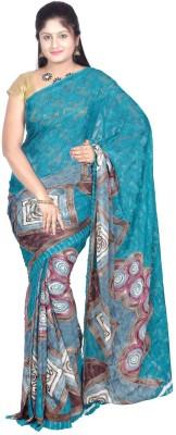 Sri Vari Fashions Printed Fashion Brasso Fabric Sari