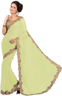 EthnicBasket Self Design Fashion Handloom Georgette Sari