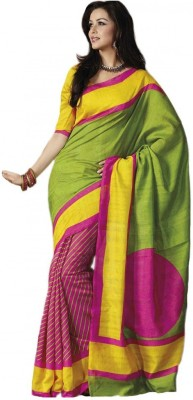 TriveniCreation Printed Bhagalpuri Silk Sari