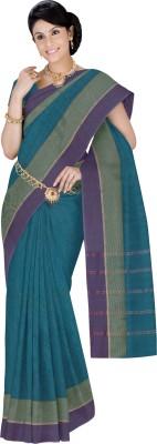 Srinidhi Silks Plain Kanjivaram Cotton Sari