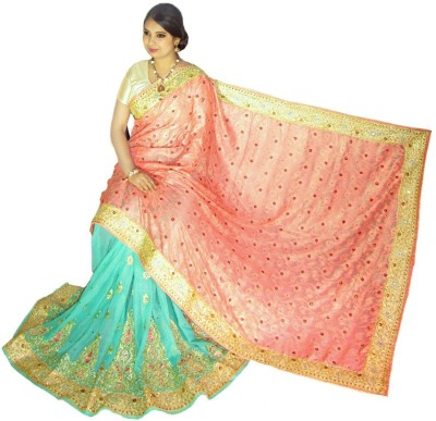 Home Design Embriodered Bollywood Handloom Silk Sari