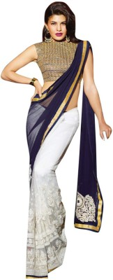 Shoppingekart Embriodered Fashion Georgette Sari