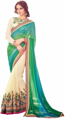 Mukta Mishree Exports Embriodered Fashion Chiffon, Georgette Sari