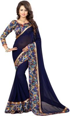 Livie Floral Print Fashion Georgette Sari