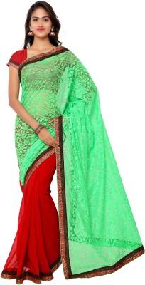 Gunjan Creation Plain Fashion Brasso Sari