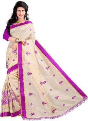 Vibhudarshan Embriodered Fashion Cotton Sari