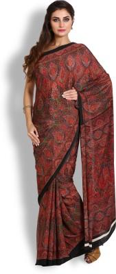 Kasturi-B Swadeshi Karigari Printed Bollywood Handloom Crepe Sari