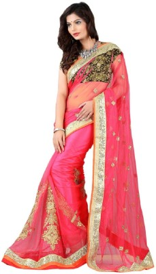 Vishal99 Embriodered Bollywood Net Sari