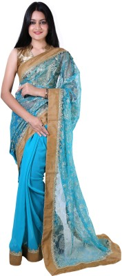 Twinkal Self Design, Embriodered Bollywood Georgette Sari