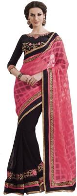 Pihu Fashion Embriodered Bollywood Handloom Cambric Sari