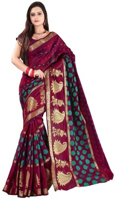 Increadibleindianwear Embriodered Fashion Handloom Silk Cotton Blend Sari