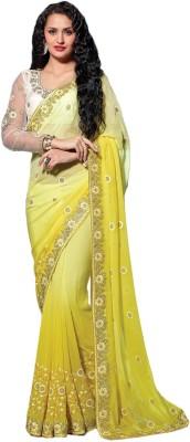 Brijraj Embriodered Fashion Georgette Sari