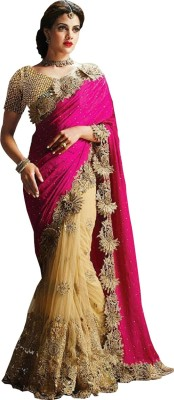 FaydaBazaar Embellished Fashion Net Sari