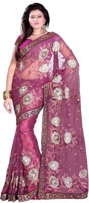 Sangam Prints Self Design Fashion Net, Viscose Sari