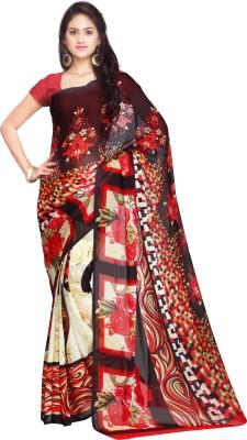 Ligalz Printed Fashion Handloom Georgette Sari