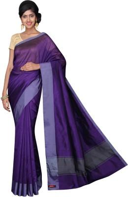 Korni Solid, Striped Banarasi Cotton, Silk Sari