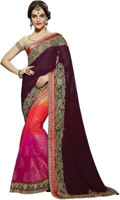 Fashionate Embriodered Fashion Net Sari