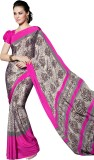 Lovely Look Printed Daily Wear Crepe Sar...