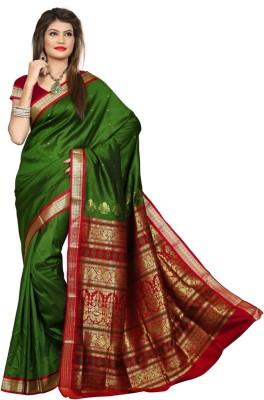Shobha Sarees Self Design Bomkai Poly Silk Sari